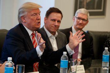 Donald Trump, Tim Cook, Peter Thiel