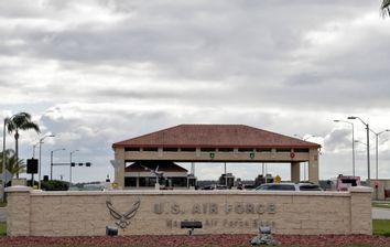 main gate at MacDill Air Force Base