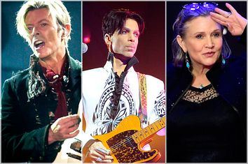 David Bowie; Prince; Carrie Fisher