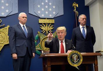 Donald Trump, James Mattis, Mike Pence