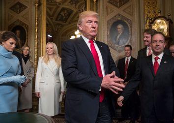 Donald Trump, Melania Trump, Tiffany Trump, Reince Priebus, Donald McGahn