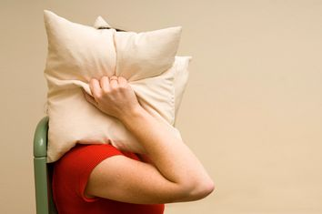 Woman Covering Head