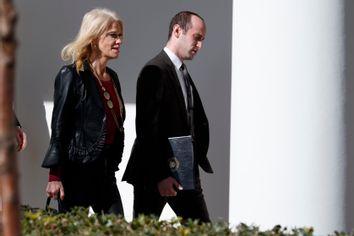 Donald Trump, Kellyanne Conway, Stephen Miller