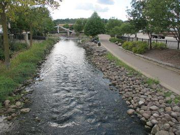 Fox River in Waukesha, Wisconsin