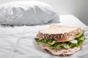 Sandwich in Bed
