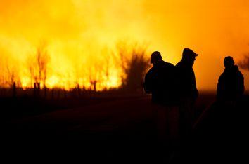 US Wildfires Kansas