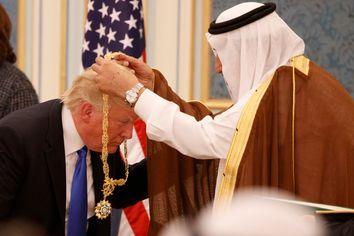 Donald Trump, Melania Trump, King Salman
