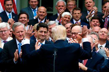 President Trump congratulates House Republicans