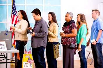 Voters in Line