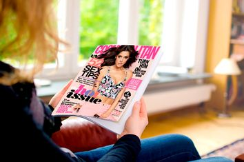 Woman Reading Cosmo