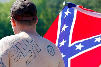 supporters of the Confederate flag
