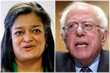 Pramila Jayapal; Bernie Sanders