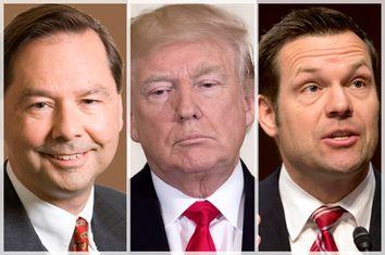 Hans von Spakovsky; Donald Trump; Kris Kobach