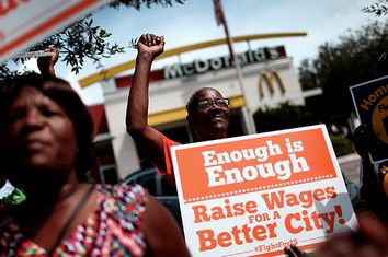 Fast Food Workers Rally For Higher Wages