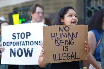 Immigration Enforcement Protest