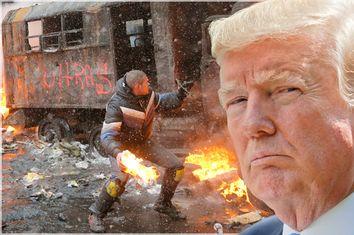 Donald Trump; Ukraine Protest