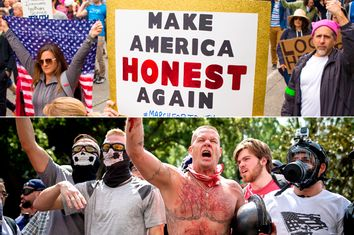 Anti-Trump; Pro-Trump