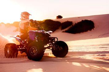 Quad bike racer