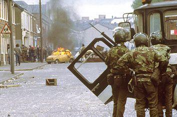 British Troops in Belfast, Northern Ireland