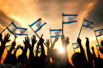 People Waving the Flag of Israel