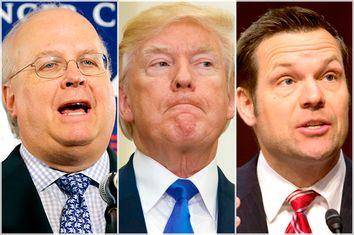 Karl Rove; Donald Trump; Kris Kobach
