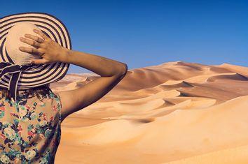 Woman; Desert