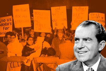 Richard Nixon; Anti-Vietnam War Protest