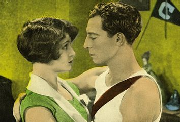 Anne Cornwall and Buster Keaton in