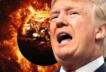 Donald Trump; Burning Earth