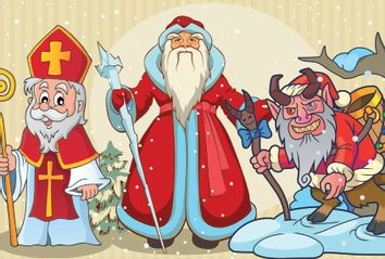 Saint Nicholas; Ded Moroz; Krampus