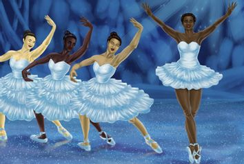 Ballerinas performing in Nutcracker