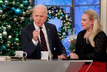 Joe Biden and Meghan McCain on