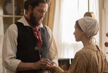 Zachary Levi and Sarah Gadon in