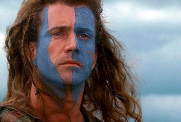 Mel Gibson as William Wallace in