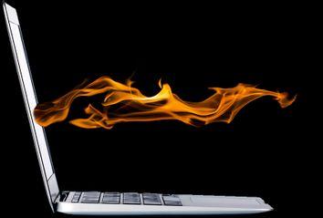 Laptop; Flames