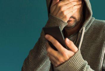 Man on Phone Upset