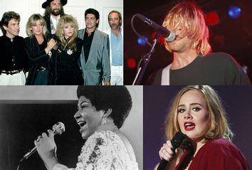Fleetwood Mac; Nirvana; Aretha Franklin; Adele