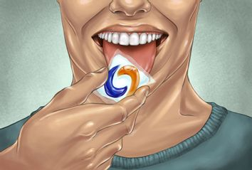 Person eating a tide pod