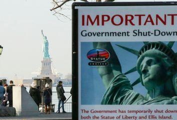 Statue Of Liberty Closed - Government Shutdown