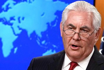 Outgoing Secretary Of State Rex Tillerson