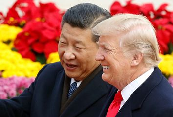 Chinese President Xi Jinping and Donald Trump