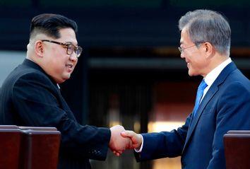 Kim Jong Un; Moon Jae-in