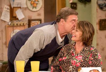 John Goodman and Roseanne Barr on