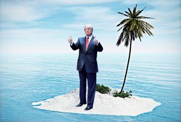 Donald Trump on Desert Island