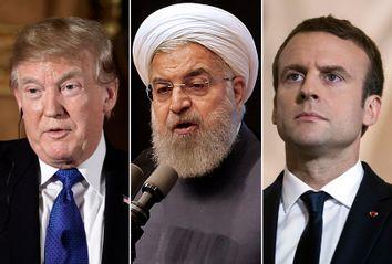 Donald Trump; Hassan Rouhani; Emmanuel Macron