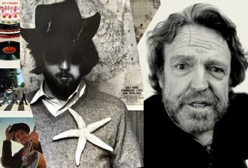 A photo of the author taken by John Perry Barlow; John Perry Barlow