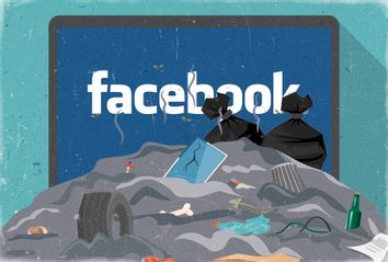 Facebook; Pile of Garbage