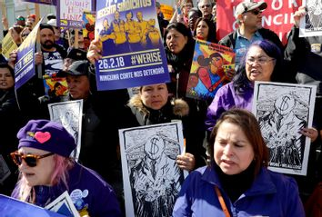 Various Labor Union Protest