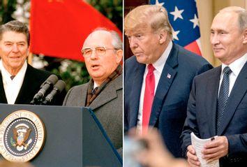 Reagan; Gorbachev; Trump; Putin