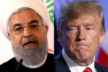 Iranian President Hassan Rouhani; Donald Trump